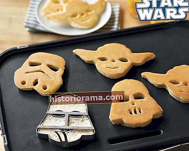 Oslavte Den hvězdných válek obracením palačinek Yoda pomocí špachtle R2D2