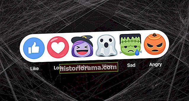Facebook zverejňuje halloweenske reakcie a masky naživo