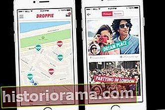 Програма соціальних фотографій Droppie дозволяє залишати зображення для інших